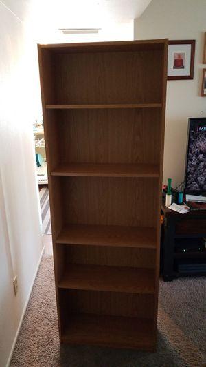 Light brown bookshelf for Sale in Glendale, AZ