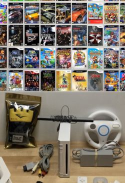 Nintendo Wii Console Bundle with 67 Games (Wii+GameCube Controllers) - Great Lot for Sale in North Las Vegas,  NV