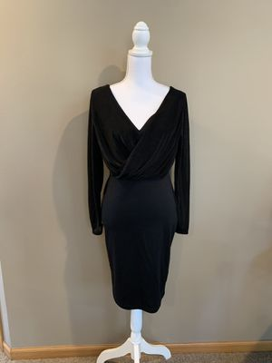 Black Midi Pencil Skirt Dress with Sheer Sleeves Size Medium for Sale in Wayne, IL