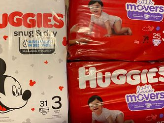 Huggies Little Movers And Snug & Dry for Sale in Aurora,  IL
