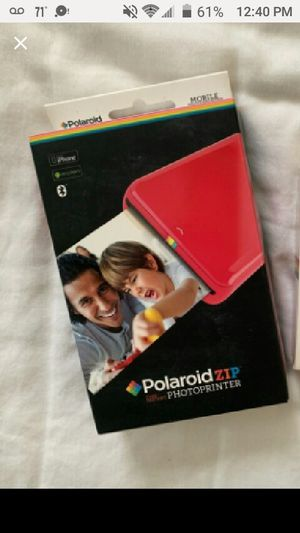 POLAROID ZIP PHOTO INSTANT PRINTER AND PAPER for Sale in Schaumburg, IL