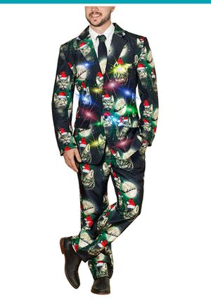 Christmas Suit w/ LED lights NEW ugly sweater party for Sale for sale  Hemet, CA