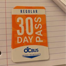 New 30-day Bus Pass for Sale in Costa Mesa,  CA