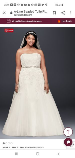 Wedding Dress and Vail for Sale in Audubon, NJ