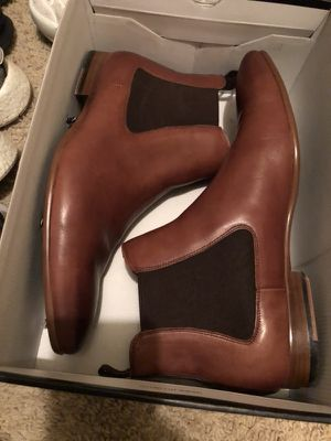 Aldo Real leather and wood chelsie boots for Sale in Atlanta, GA