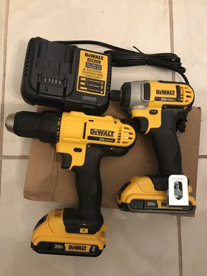 DEWALT 20-Volt Lithium-Ion Cordless Drill/Impact Combo Kit (2-Tool) with (2) Batteries ,Charger,Case, Price Firm for Sale in Alhambra, CA
