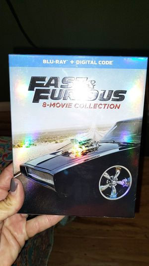 FAST AND FURIOUS 8 FILM COLLECTION BLURAY WITH DIGITAL UNOPENED for Sale in San Diego, CA