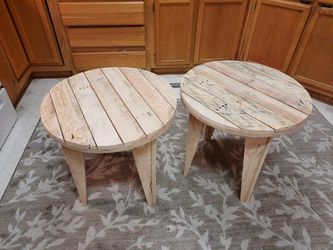 Pair Of Side Tables Hand Made Farmhouse Style for Sale in Battle Ground,  WA