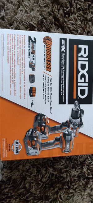 Ridgid Brushless 18 volt Compact Hammer Drill/Driver Kit for Sale in Libertyville, IL