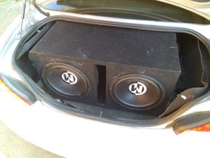 """12""""s Memphis car Audio w/ amp and box for Sale in Oakley, CA"""