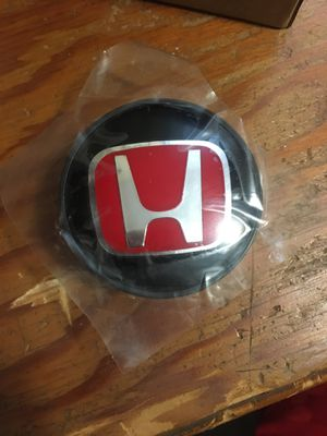 HONDA CIVIC FIT Set of 4 JDM Red H Wheel Center Caps Hubs Cover Caps for Sale in Buffalo, NY
