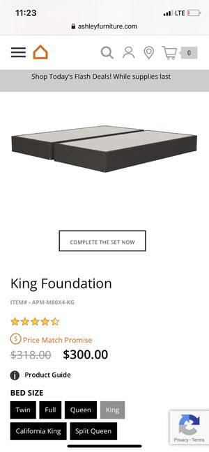 King foundation for Sale in Hanford, CA