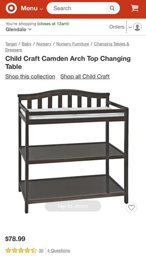 Child Craft Camden Arch Top Changing Table for Sale in Glendale, CA