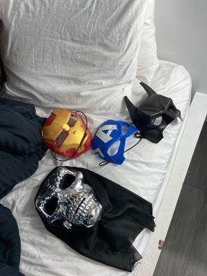 Masks/ Batman/ Iron Man/ Captain America for Sale in Duncanville, TX