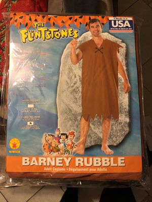 Barney Rubble costume x-l for Sale in Los Angeles, CA