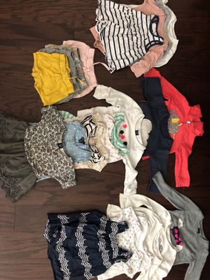 6-12 month through 2t girl clothes for Sale in Gaithersburg, MD