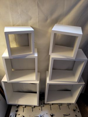 6 square hanging shelfs for Sale in Angola, IN
