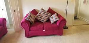 Wine color 2pc sofa+couch set for Sale in Baltimore, MD