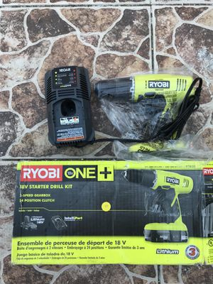 Ryobi starter drill kit 18v for Sale in Long Beach, CA