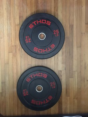 Ethos 25 LB Bumper Plates Set (2x25s) PAIR for Sale in Miami, FL