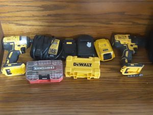 Delwat combo set with 3 batteries and charger for Sale in West Columbia, SC