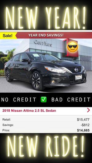 2018 Nissan Altima sl Sedan Clean Title fully loaded leather black alloy wheels for Sale in Downey, CA