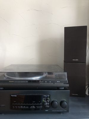 Record player/stereo system with 4 speakers for Sale in Winthrop, MA