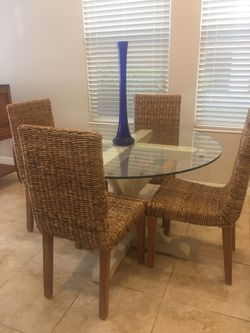 Pottery Barn Glass Top Dining Table for Sale in Windermere,  FL