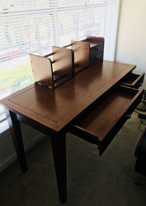 Vintage Wood Desk with Organizer for Sale in San Francisco, CA