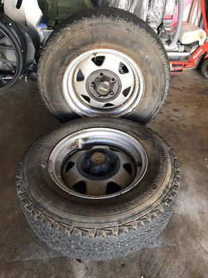 Jeep wheel with good tires. Only 2 for Sale in Santa Ana, CA
