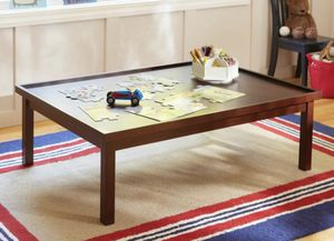 Pottery Barn low table dark wood for Sale in Pleasanton, CA