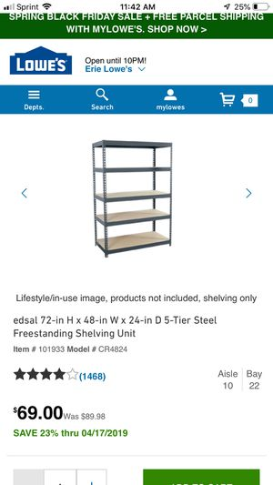 Shelving unit for Sale in Erie, PA