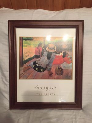 Framed Picture by Gauguin The Siesta for Sale in Minocqua, WI