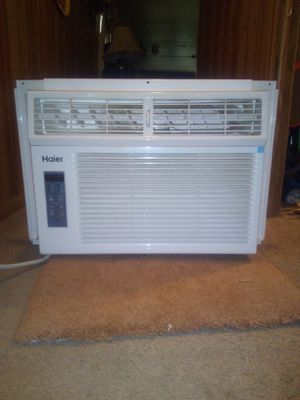 Air conditioner window standard size 12000 BTUs 110 electric 1 year old touch panel for Sale in Monongahela, PA
