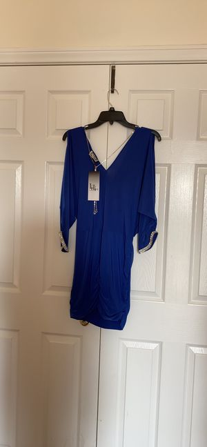 Royal Blue dress with real crystals . Beautiful size small! Never worn for Sale in Mission Viejo, CA