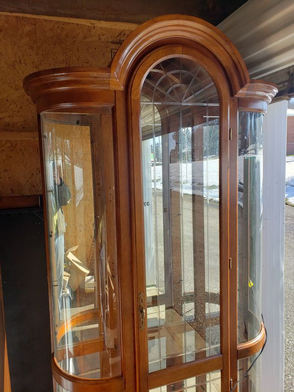 Large Display Case with tempered glass shelves