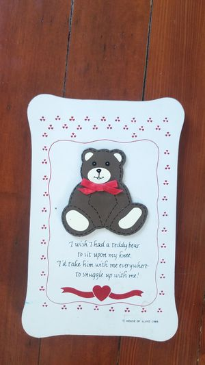 forTEDDY BEAR lovers, baby, child, your collectors, sign , picture adorable! for Sale in Steilacoom, WA