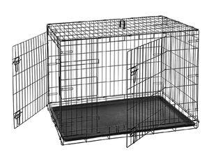 Folding Metal Dog Crate Kennel - Double Doors for Sale in Fort Lauderdale, FL