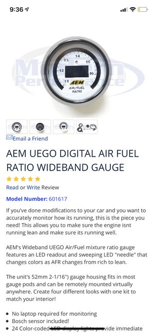 AEM UEGO DIGITAL AIR FUEL RATIO WIDEBAND GAUGE for Sale in Hialeah, FL