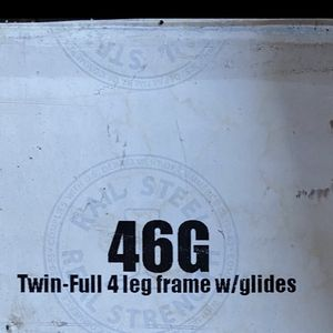 Twin-full bedframe w/ glides new in box for Sale in Woonsocket, RI
