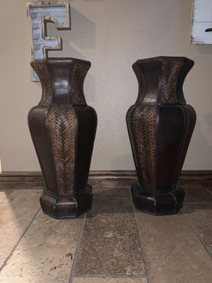 Faux wood vases for Sale in Riverside, CA
