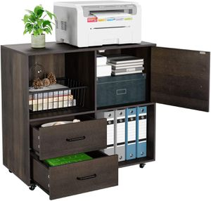 Mobile Lateral File Cabinet with 2 Drawers and Door for Sale in Los Angeles, CA