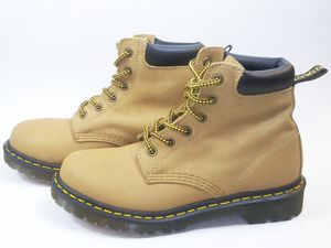 DR MARTENS Women's Boots 939 Tan Greasy Suede 6-Eye Hiking Shoes US 7 Msrp $150 for Sale in Hayward, CA