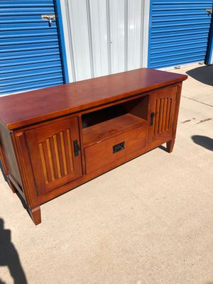 Beautiful solid wood tv entertainment console. Retails for over $380 for Sale in Fowler, CA