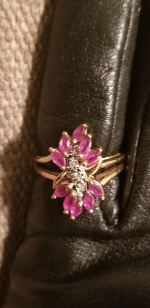 Amethyst and Diamond 14kt ring for Sale in Fairfax, VA