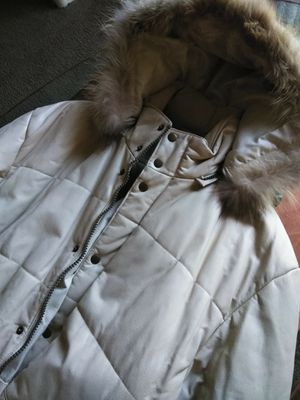 Authentic Cream Color Leather Jacket for Sale in Las Vegas, NV