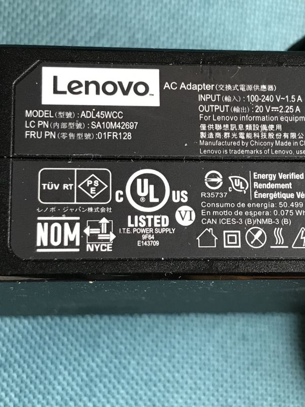 Lenovo Laptop/Tablet Charger