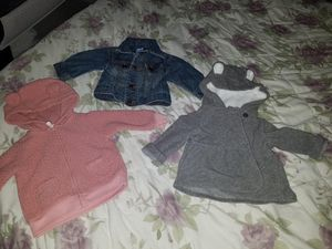Baby girl clothes, shoes, jackets and baby carrier for Sale in Pittsburgh, PA