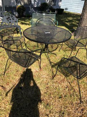 Wrought iron patio table and 5 chairs for Sale in Fort Worth, TX