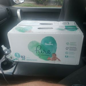 Pampers Pure Protection Size 1 82 Super Pack for Sale in Houston, TX